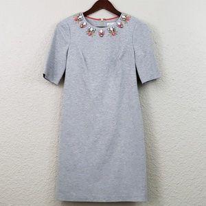 Eliza J Jersey Dress Embellished neckline size 4